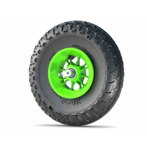 8 inch wheel green with reverse locks 12SG-MG-RLS